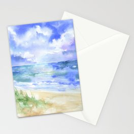 Ocean and Sand Dunes Stationery Cards
