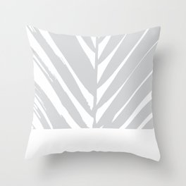 Tropical Grey Palm #society6 #decor #buyart Throw Pillow