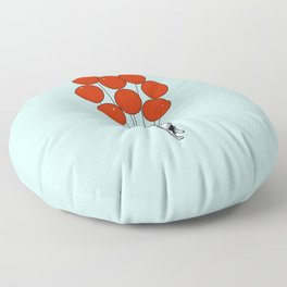 I Believe I Can Fly French Bulldog Floor Pillow