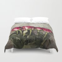 roses Duvet Covers featuring Roses by Maria Heyens