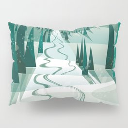 Winter Slope Pillow Sham