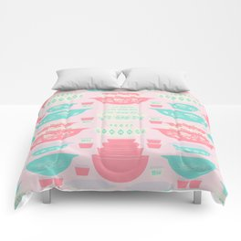 Pink and Turquoise Everything Comforters