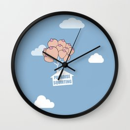 Paradise Squirting Wall Clock