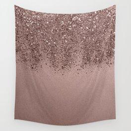 Sparkling Rose Gold Blush Glitter #3 (Photography) #shiny #decor #art #society6 Wall Tapestry