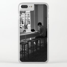 Living in Solitude Clear iPhone Case