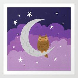 Joyful Moonlight Art Print