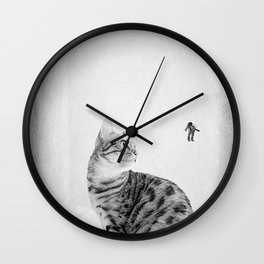 Space Meow 1 Wall Clock