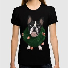 Christmas Bulldog T-shirt