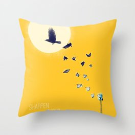 Sharpen Your Imagination Throw Pillow