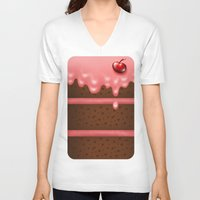 pie V-neck T-shirts featuring Pie by Rejdzy