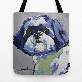 Shih Tzu Pop Art Pet Portrait Tote Bag