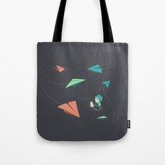 Girl Watching Paper Planes Tote Bag