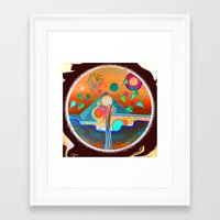 pyramid Framed Art Prints featuring pyramid by Lara Gurney