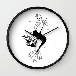 Purrr Mermaid Wall Clock