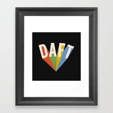 Letters : Daft II Framed Art Print