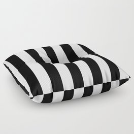 Black & White Vertical Stripes- Mix & Match with Simplicity of Life Floor Pillow