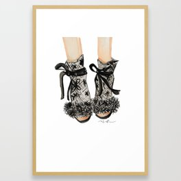 Designer Bridal Shoes Framed Art Print