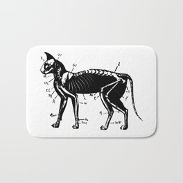 Cat Skeleton Anatomy Bath Mat