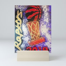raptors 5,champion,basketball,gold,poster,wall art,2019,winners,NBA,finals,toronto,canada,painting Mini Art Print