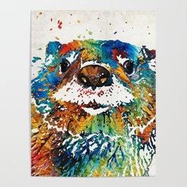 Otter Art - Ottertude - By Sharon Cummings Poster
