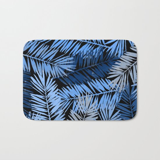 Tropical Palm Leaves III Bath Mat