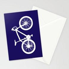 Mountain Bike Navy Blue Stationery Cards
