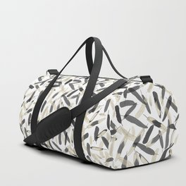 Black and White feather pattern faded Duffle Bag