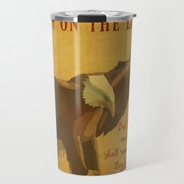 With Wings as Eagles Bible Verse Travel Mug