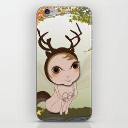 Deery Fairy under Autumn Leaves iPhone Skin