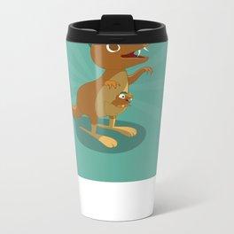 The Dino-zoo: Kangaroo-saurus Metal Travel Mug