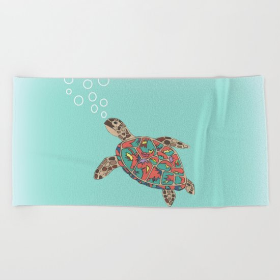 Cute Turtle Beach Towel
