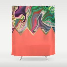 Coral Razz Shower Curtain