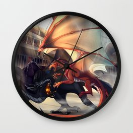 Fight Dragon Wall Clock