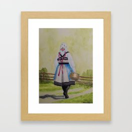 The Milkmaid from Setesdal Framed Art Print
