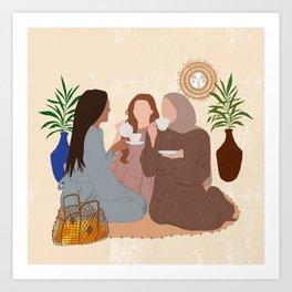 Sibling Goals / Sisters Love Art Print
