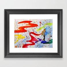 Paint Noise Framed Art Print