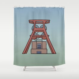 Zollverein Coal Mine Industrial Complex in Essen Shower Curtain