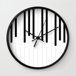 Piano keys, music background #society6 #decor #buyart #artprint Wall Clock