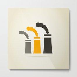 Factory pipe Metal Print