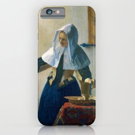 """Johannes Vermeer """"Young Woman with a Water Pitcher"""" iPhone Case"""