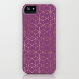 Gold Cubes 4 iPhone Case