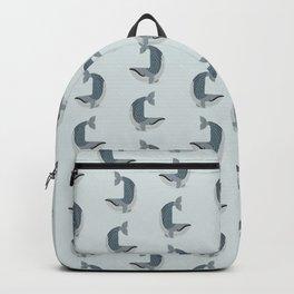 Whimsical Blue Whale Backpack