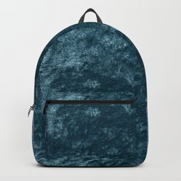 Peacock teal velvet Backpack