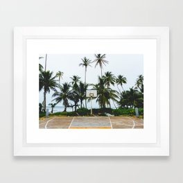 Basketball on Isla Bastimento, Bocas del Toro, Panama Framed Art Print