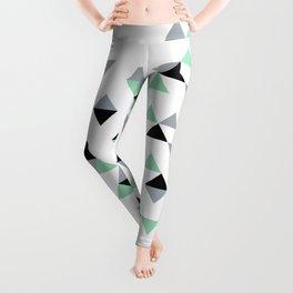 Triangles Mint Grey Leggings