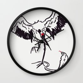Snake and Crane Wall Clock