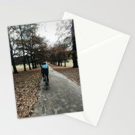 cycling in wollanton park Stationery Cards