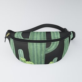 Night Desert Prickly Cactus Bunch Fanny Pack
