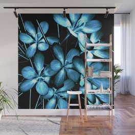 Wildflowers In The Night Light Wall Mural