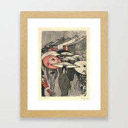 Emil Orlik - Rainy Day in Kyoto Framed Art Print